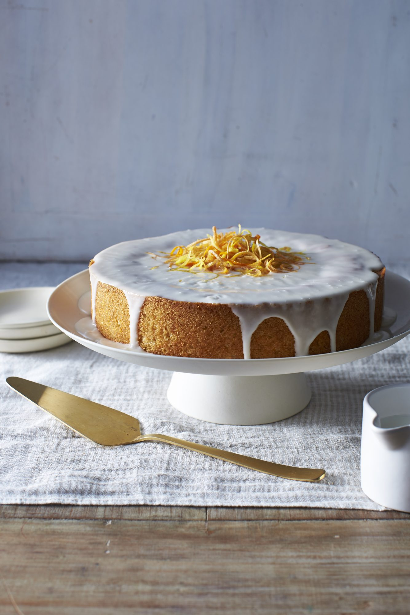 <p>Orange-Olive Oil Cake with Vanilla Glaze</p>