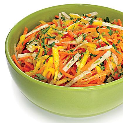 Carrot, Mango, and Jicama Slaw