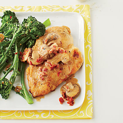 Chicken Marsala with Sun-dried Tomatoes