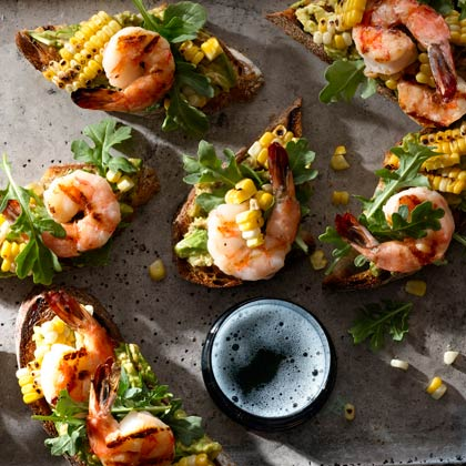 <p>Crostini with Shrimp</p>