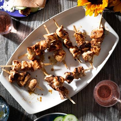 <p>Greek Marinated Chicken Kebabs</p>
