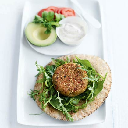 Quinoa and Chickpea Burgers