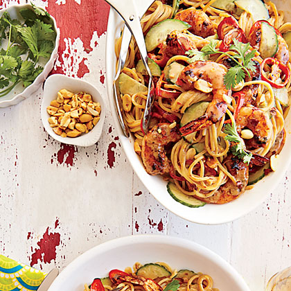 Spicy Shrimp and Peanut Noodles