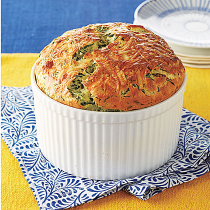 Spinach and Gruyere Souffle