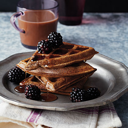 Buckwheat Belgian Waffles                            RecipeTop these waffles with slightly warm maple syrup and fresh fruit. They're so dreamy you could serve them for breakfast or dessert.