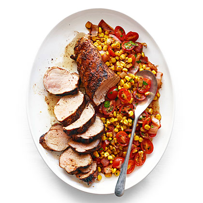 Chile Pork Tenderloin with Charred Corn Salad