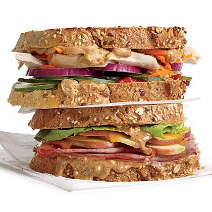 Apple, Almond, and Cheddar Sandwich