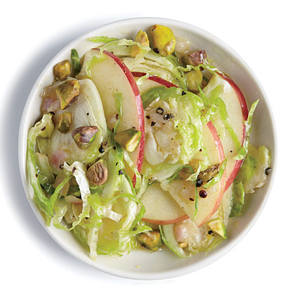 Apple and Pistachio Brussels Sprout Salad