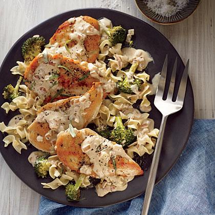 Chicken Cutlets with Tarragon-Mustard Sauce
