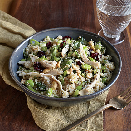 Chicken and Edamame Couscous Salad Recipe | MyRecipes