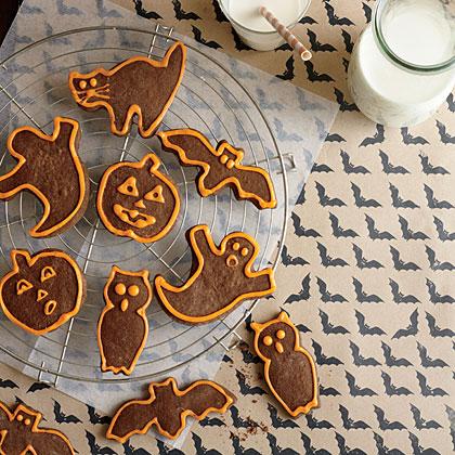 Chocolate Halloween Cutout Cookies