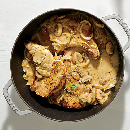Creamy Pork Chops and Mushrooms