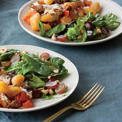 Grape and Hazelnut Salad