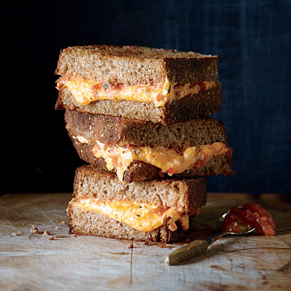 Grilled Cheese with Roasted Tomato Spread