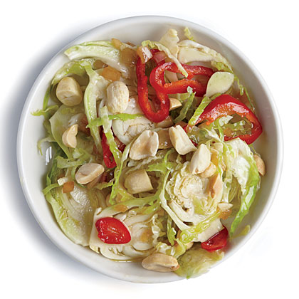Peanut and Chile Brussels Sprout Salad