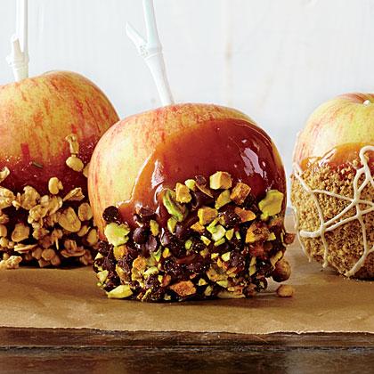 Pistachio-Orange Caramel Apples