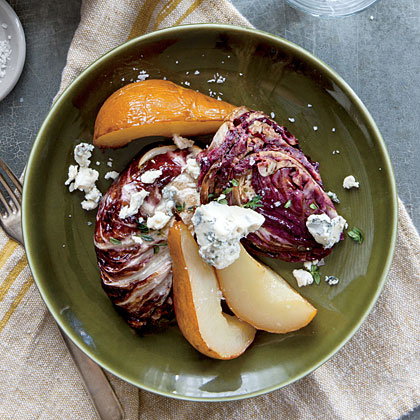 Roasted Balsamic Radicchio and Pears