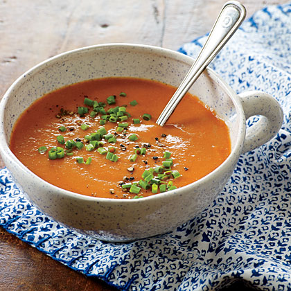 Roasted Tomato and Garlic Soup Recipe | MyRecipes