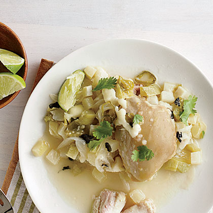 Tomatillo and Chayote Chicken
