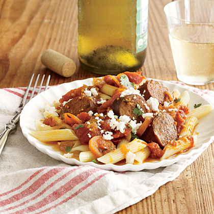 Turkey Sausage and Spicy Tomato Sauce