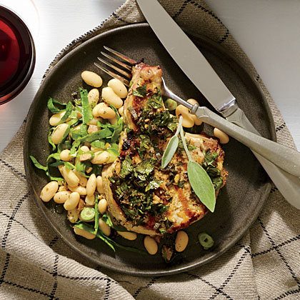 Tuscan-Style Garlic-Herb Pork Chops