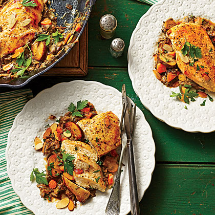 Chicken-and-Wild Rice Skillet Casserole