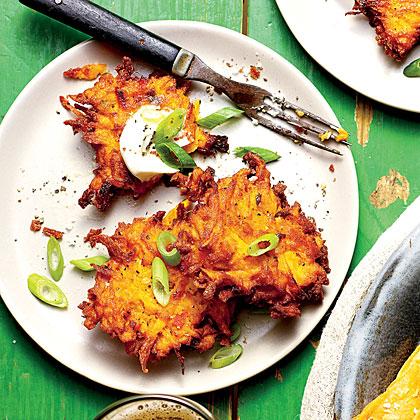 Crispy Sweet Potato-Green Onion Cakes