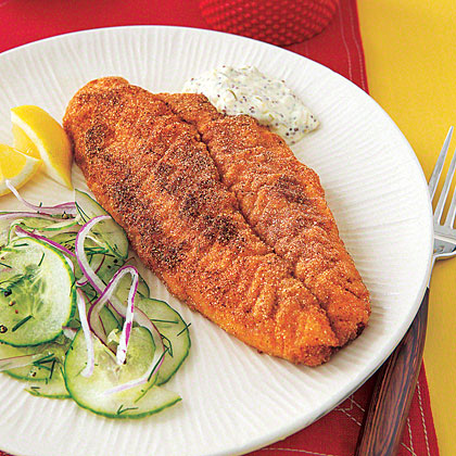 Cornmeal-Crusted Fish Fillets
