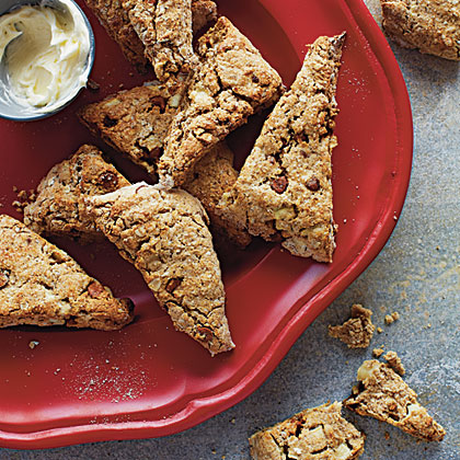Cinnamon, Apple, and Oat Scones RecipeSorghum flour and brown rice flour give these scones a heartier texture that mimics the wheat-based variety. Serve them with a mug of hot chocolate or mulled cider for a delicious breakfast or as an afternoon snack.