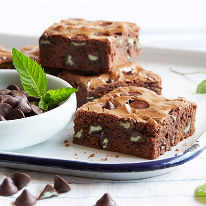 Dark Chocolate Brownies with Mint Filled DelightFulls