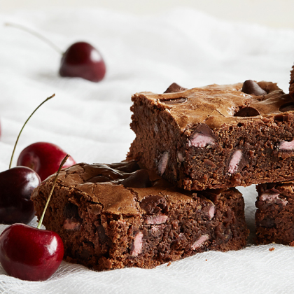 Dark Chocolate Brownies with Cherry Flavored Filled DelightFulls