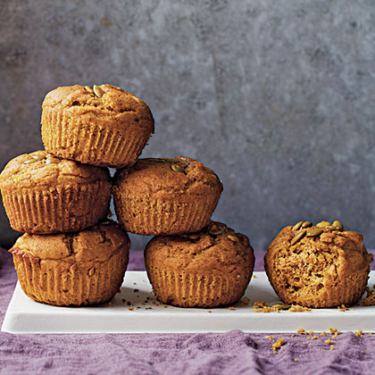 Pumpkin-Spice Muffins RecipeThe onset of autumn is worth celebrating, so why not make a huge batch of mulled apple cider and serve it with these spiced pumpkin muffins? The pumpkin adds gorgeous color, flavor, and moisture as well as fiber, vitamin A, and potassium.