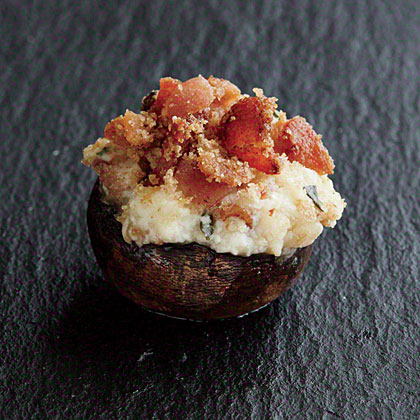 Bacon and Ricotta-Stuffed Mushrooms