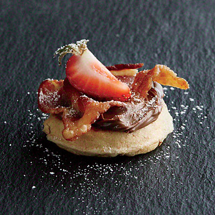 Berry-Bacon Waffle Minis