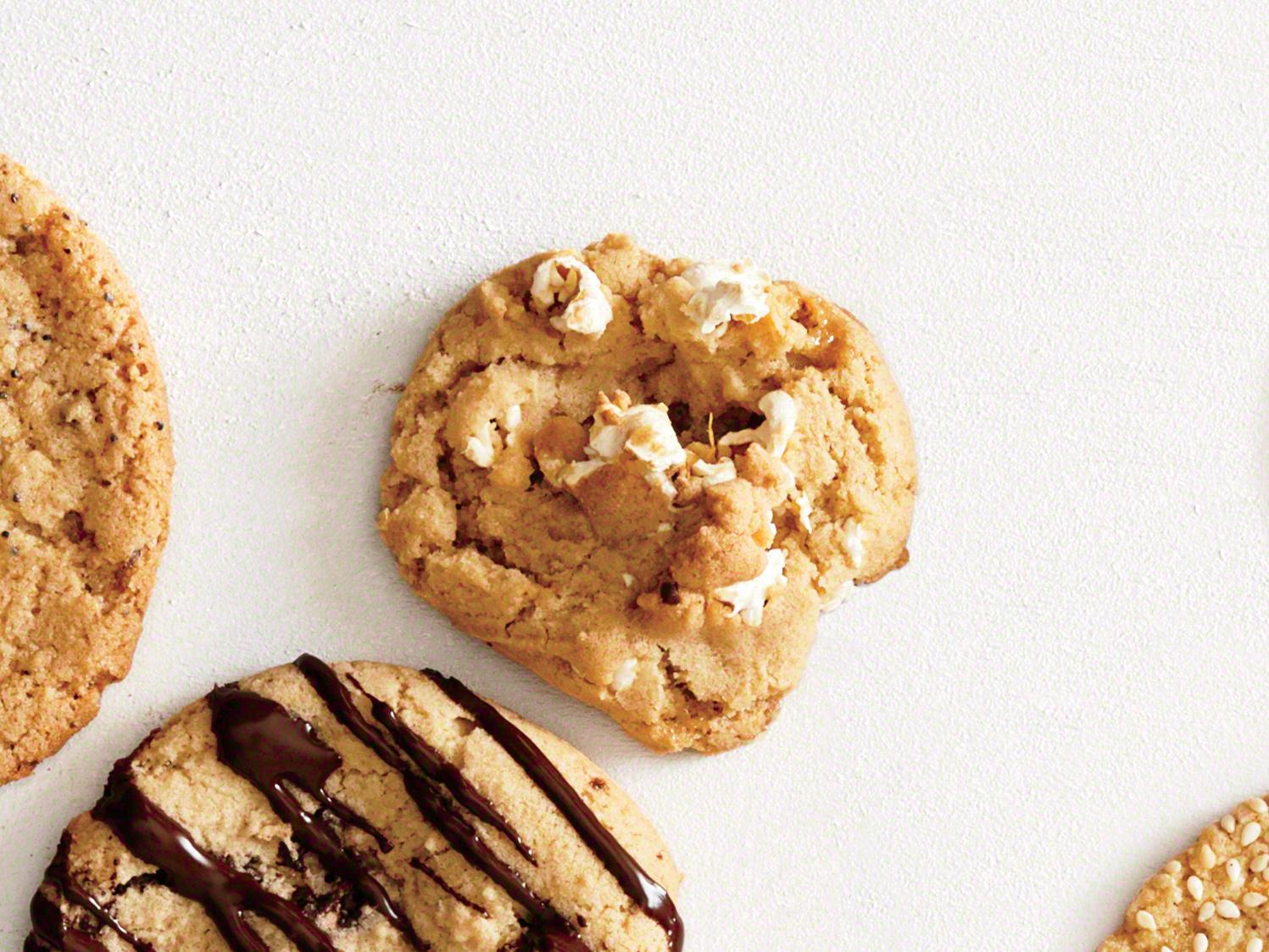 Caramel Popcorn Cookies