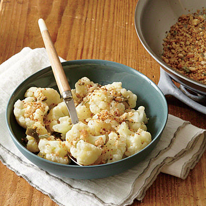 Cauliflower with Anchovy Breadcrumbs