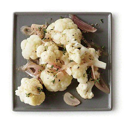Cauliflower with Garlic-Thyme Vinaigrette