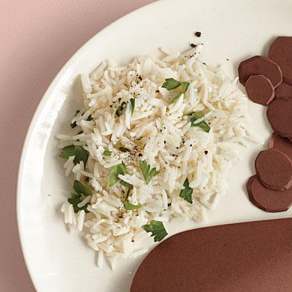 Garlic-Parmesan Rice