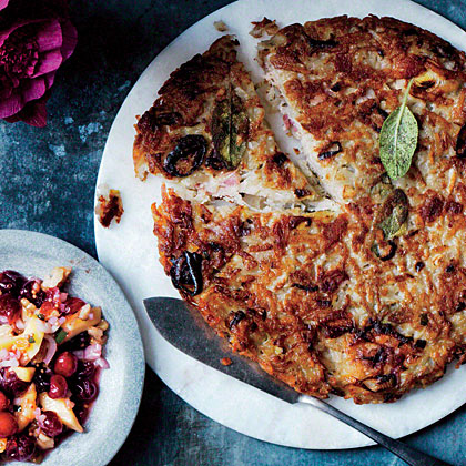 shallots and potatoes roesti with shallots and rosti with bacon and ...