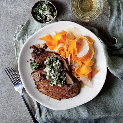 Leg of Lamb with Shaved Fall Vegetables