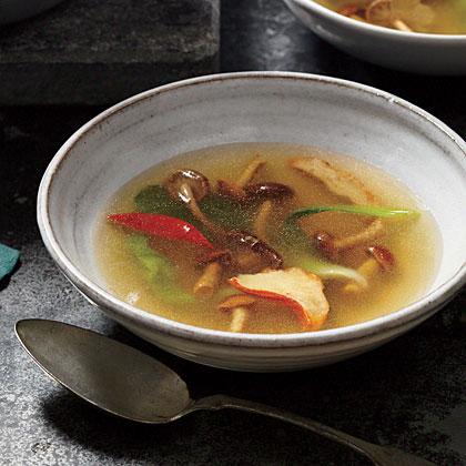 Nameko and Lobster Mushroom Soup