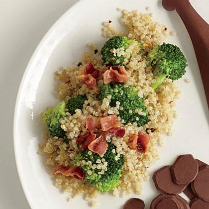 Quinoa with Broccoli and Bacon