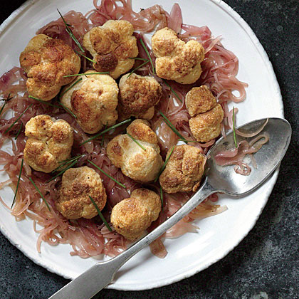 Roasted Lion's Mane Mushrooms with Sherried Shallots