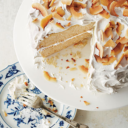 <p>Coconut Layer Cake with Marshmallow Frosting</p>