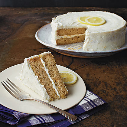 Lemon Cake RecipeThis gluten-free layer cake has a bright flavor and a wonderfully rich frosting. Garnish it with thin lemon slices.