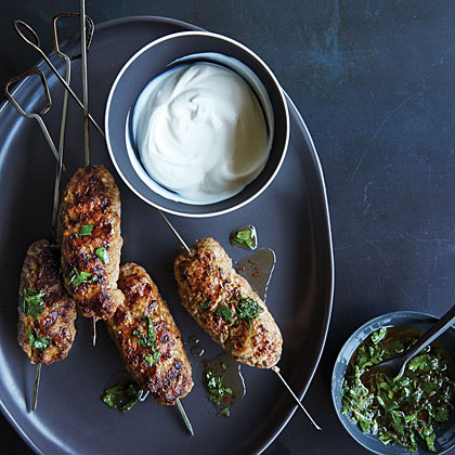 Adana-Inspired Turkey-Lamb Kebabs