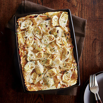 Artichoke and Melted Fennel Lasagna