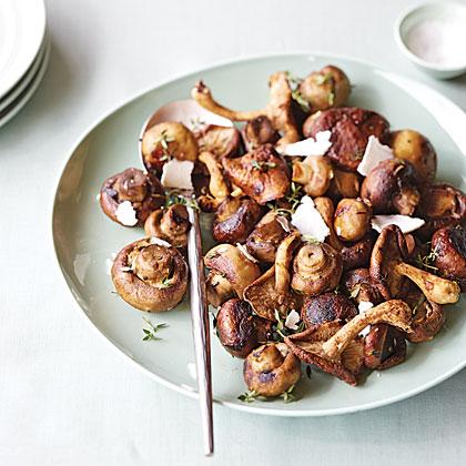 Fire-Roasted Mushrooms with Ricotta Salata