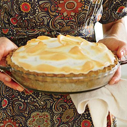 Butterscotch Meringue Pie with Pecan Crust