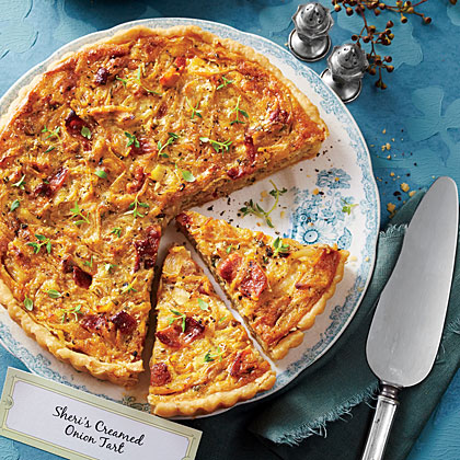 Creamed Onion Tart